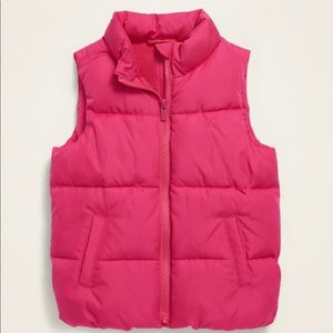 NWT HOT PINK PUFFER VEST - 12-18M